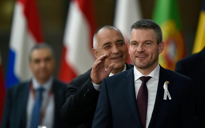 Peter Pellegrini Euroopa ülemkogul.