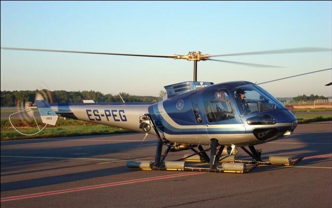 Вертолет Департамента полиции и погранохраны.