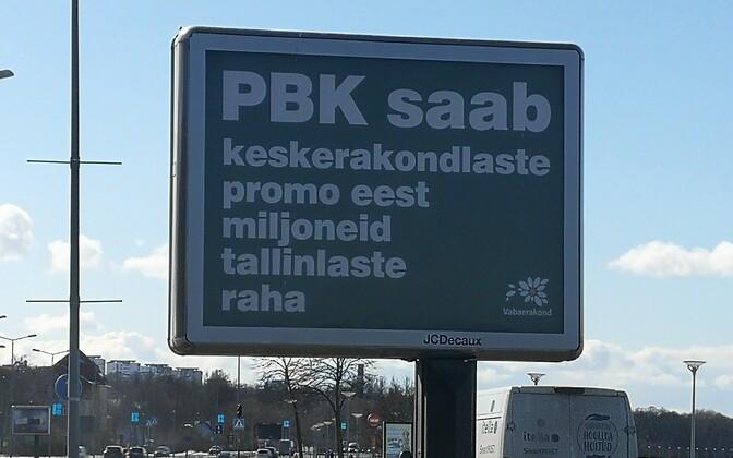 Vabaerakonna plakat Pirita teel.