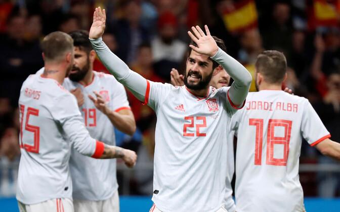 Isco lõi Argentinale neli väravat.
