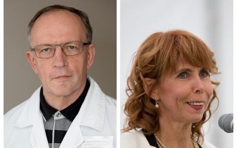 Tartu Ülikooli rektori kandidaadid Toomas Asser ja Margit Sutrop