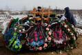 Похороны жертв трегедии в Кемерове.