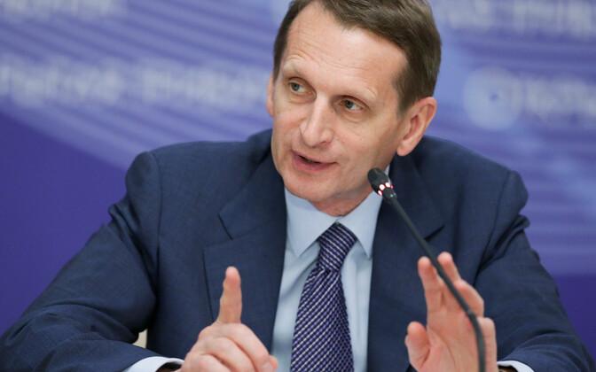 Vene välisluureteenistuse (SRV) juht Sergei Narõškin.