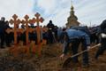 Похороны жертв трагедии в Кемерове.