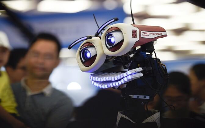 Robot. Illustreeriv foto.