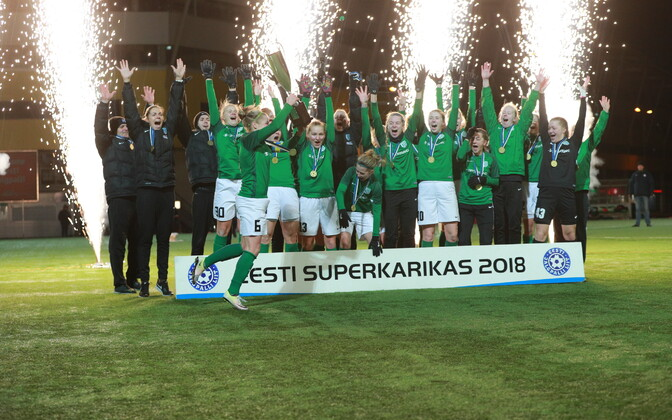 Naiste jalgpalli superkarikas Pärnu JK - Tallinna FC Flora