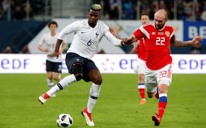 Paulg Pogba (vasakul) oli üks rassistliku kohtlemise osaliseks saanud mängijatest.
