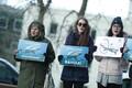 Ookeanikalade akvaariumi rajamise vastane meeleavaldus.