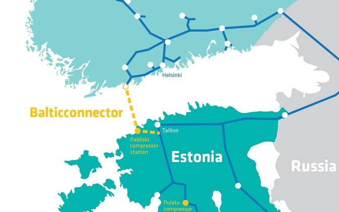 Схема трассы газопровода Balticconnector.