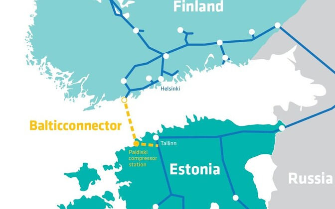 The route of the pipeline along with others on the mainland.