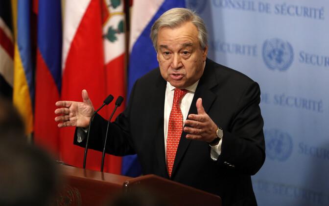 ÜRO peasekretär Antonio Guterres.