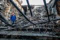 Сгоревший кинотеатр в торговом центре Кеморова.