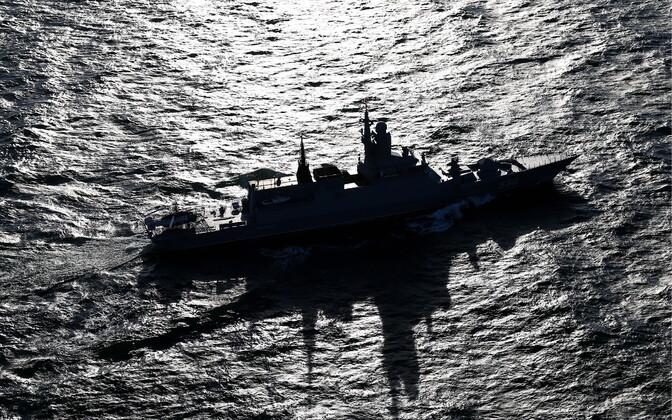 Vene sõjalaev Läänemerel.