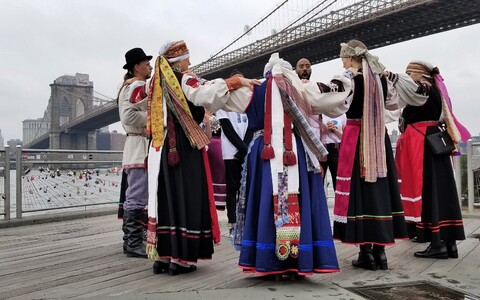 Seto singers in New York for the 48th annual Estonian Cultural Days. March 2018.