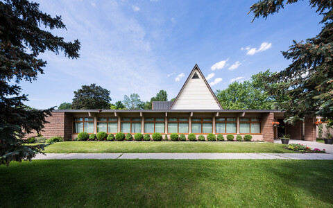 Matteuse kirik Scarborough's, arhitekt Mihkel Bach, valmis 1955.