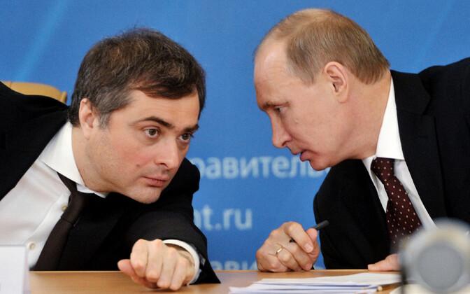 Vladislav Surkov ja Vladimir Putin.