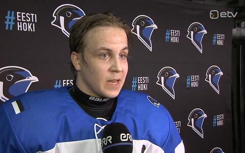 Eesti U-18 koondise kapten Rasmus Kiik