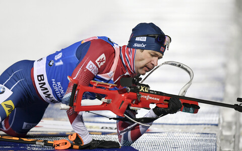 Ole Einar Björndalen tänavu Kontiolahti MK-etapil.