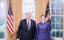 Президент Эстонии Керсти Кальюлайд и Дональд Трамп