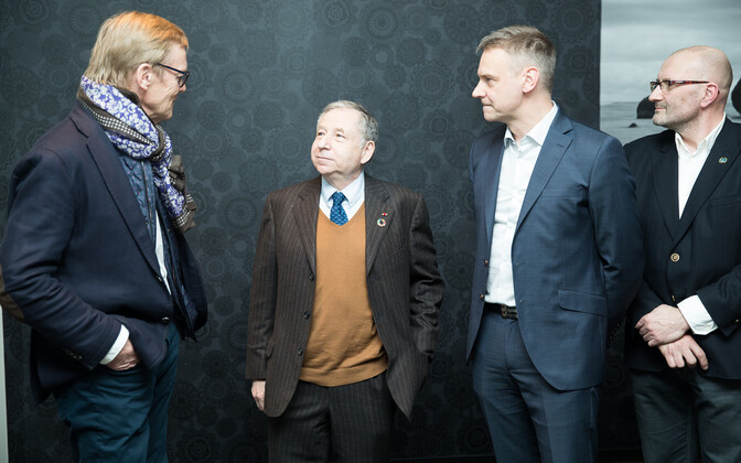 FIA President Jean Todt in Estonia on Thursday. April 5, 2018.