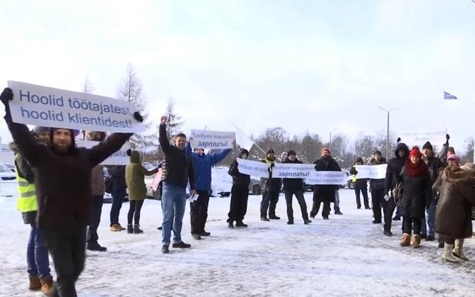 Забастовка работников скотобойни Раквереского мясокомбината.