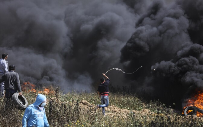 Protestijad Gaza-Iisraeli piiri ääres.