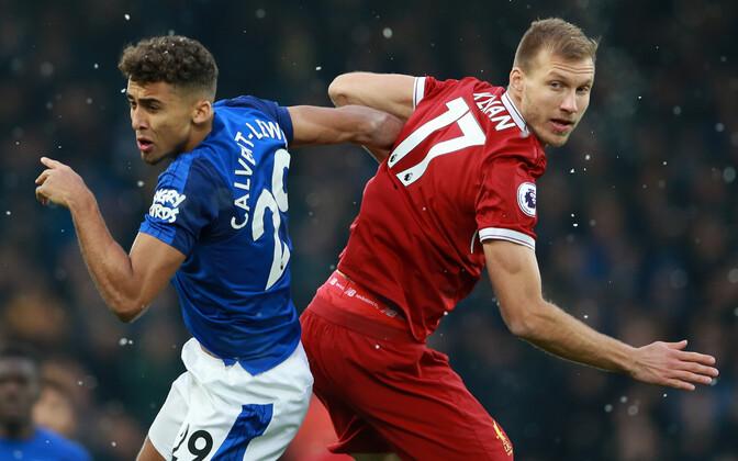 Ragnar Klavan kohtumises Evertoniga.