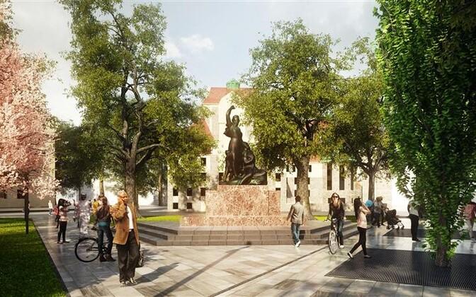 Tammsaare pargi arhitektuurivõistluse võidutöös