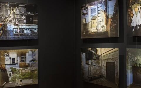 """Tartu kunstimuuseumi koduteemalise näituse küpsemaid ja terviklikumaid töid on Johan Huimerinna fotoseeria """"Karlova obscura""""."""