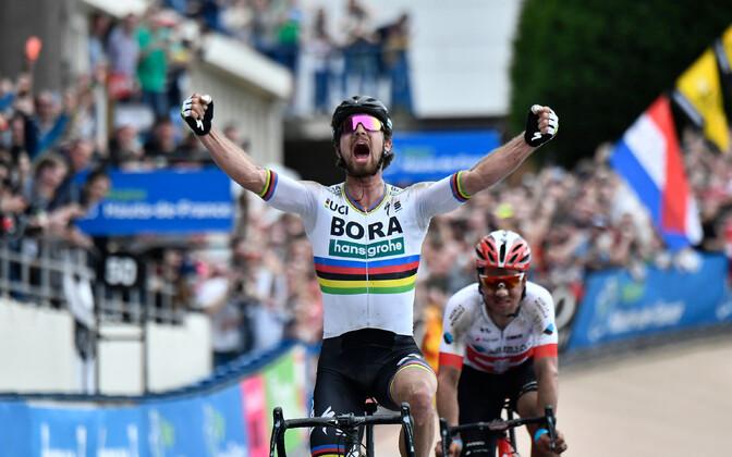 Peter Sagan tänavusel Pariisi-Roubaixi klassikul.
