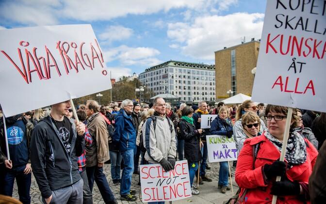 Stockholmis tuli 2017. aastal teaduse kaitseks tänavatele ligikaudu 2500 inimest.