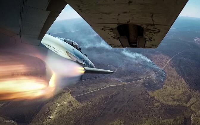 Vene hävitaja Suhhoi Su-35S sõjaväelennukite võistlusel Kaug-Idas