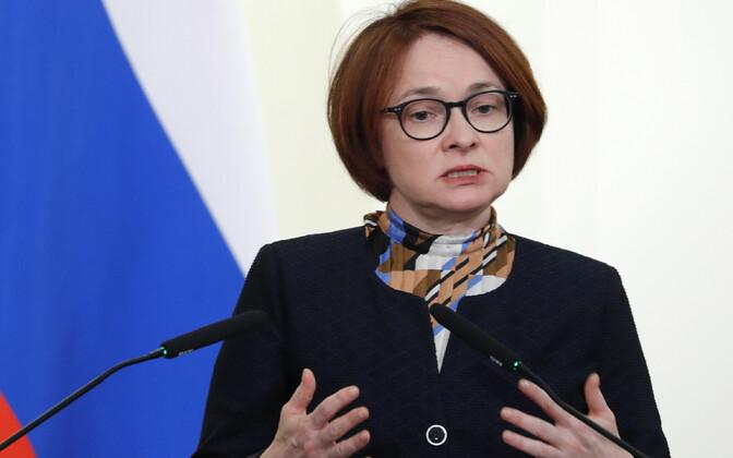Vene Keskpanga president Elvira Nabiullina.