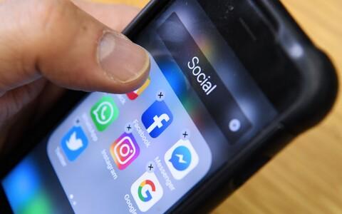Sotsiaalmeedia rakendused telefonis.