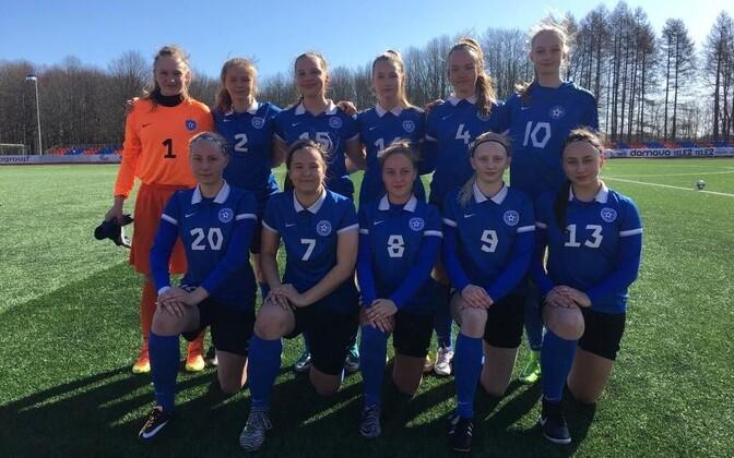 Eesti U-17 neidude jalgpallikoondis