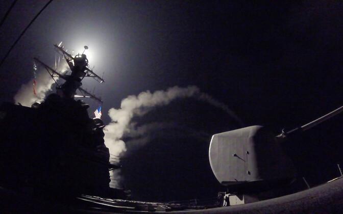 Tomahawk raketi tulistamine USA sõjalaevalt USS Porter eelmise aasta aprillis.