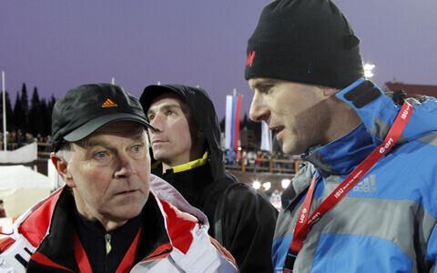 Anders Besseberg 2011. aasta MM-il Venemaal Hantõ-Mansiiskis toonase Venemaa alaliidu presidendi, oligarh Mihhail Prohhoroviga.