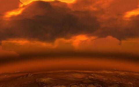 Veenuse pilved kunstniku kujutuses.