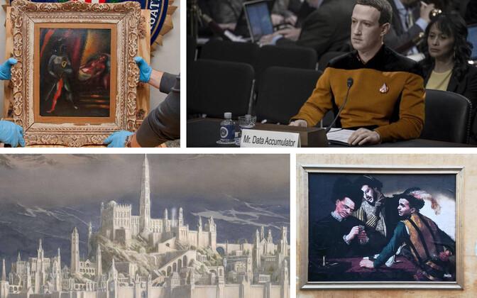 Aastakümneid kadunud olnud Marc Chagalli maal (AFP); veebihuumor Zuckerbergi ja