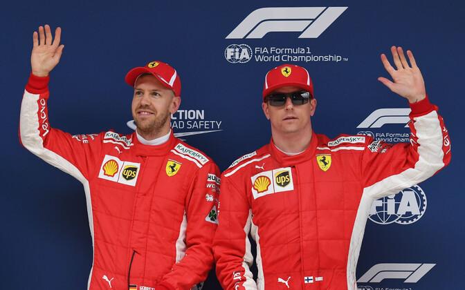 Sebastian Vettel ja Kimi Räikkönen