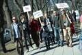 Демонстрация ученых Эстонии.