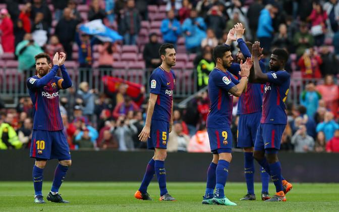 FC Barcelona jäi laupäeval Hispaania kõrgliigas võitmatuks 39. kohtumist järjest.