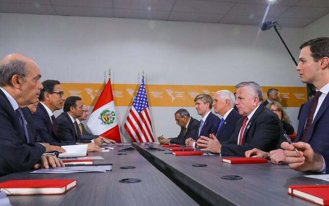 Peruu ja USA liidrite kohtumine Limas.