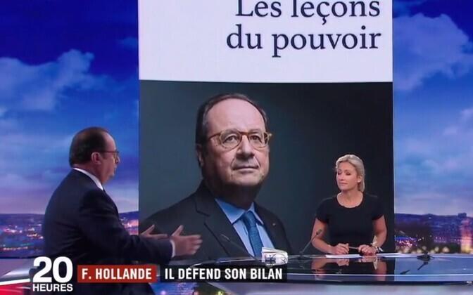 François Hollande teleintervjuud andmas France 2 kanalil.