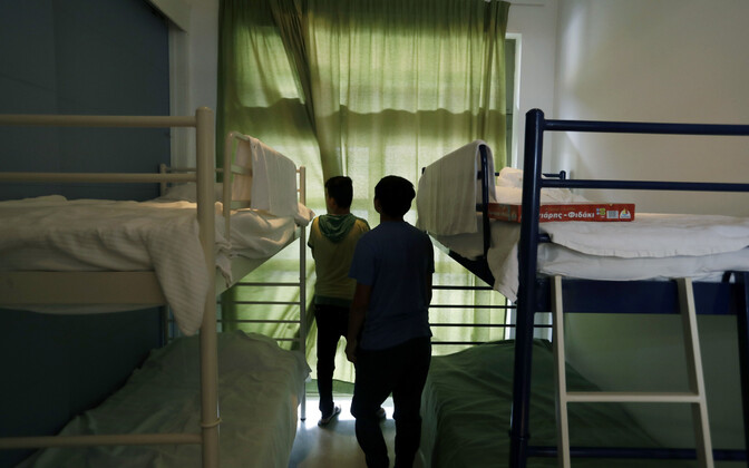 Alaealised varjupaigataotlejad Ateena migratsioonikeskuses.