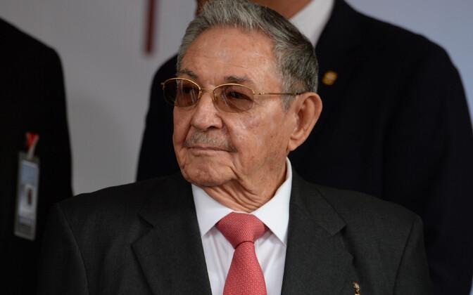 Kuuba juht Raul Castro.