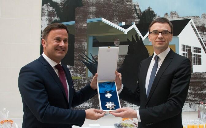 Luksemburgi peaminister Xavier Bettel ja Eesti välisminister Sven Mikser.