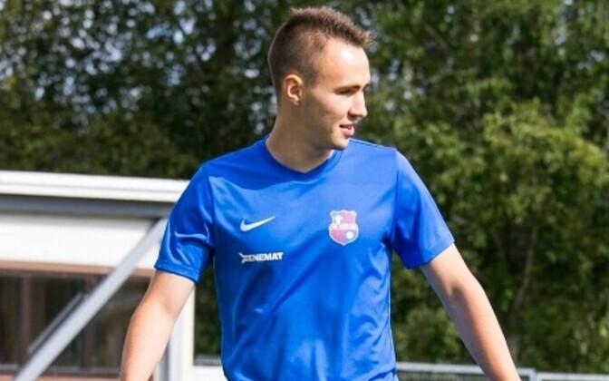 Никита Новопашин на тренировке в Пайде.
