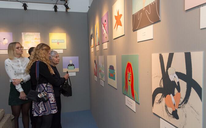 Möödunud aasta konkursi võitjate Ann Einbergi ja Annaliise Kalamehe kureeritud näitus