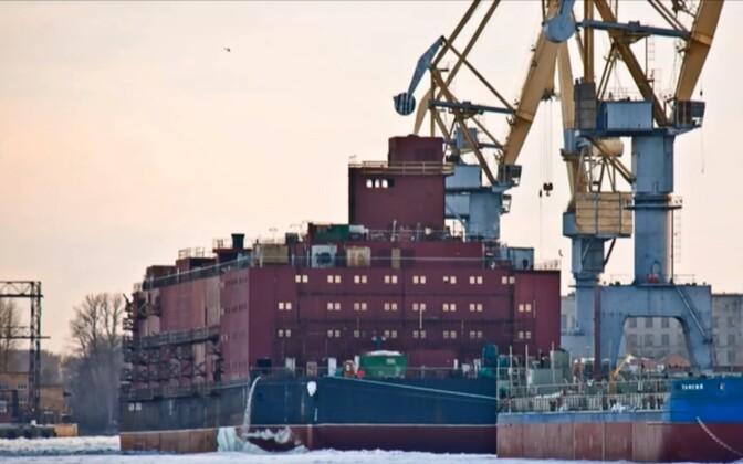 The Akademik Lomonosov, moored in St. Petersburg.